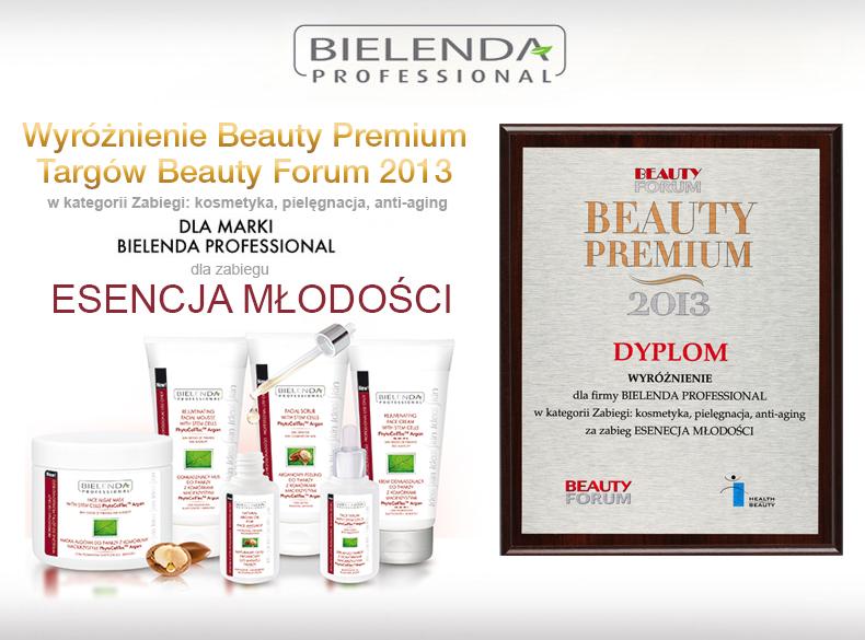 Wyróżnienie Beauty Premium 2013 Targów BEAUTY FORUM