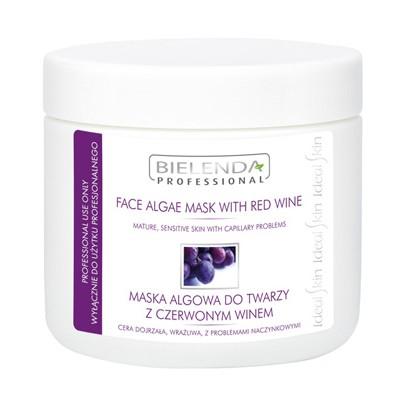 czerwone wino maska alogwa do twarzy